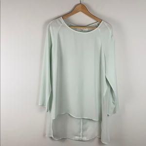 Oak + Fort Hi/Low tunic mint green size large